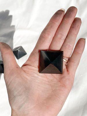 Shungite Pyramid | 30mm - Unearthed Crystals