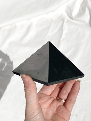 Shungite Pyramid | 80mm - Unearthed Crystals