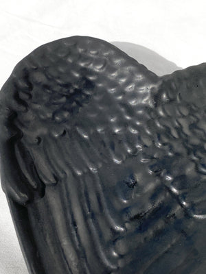 Shungite Angel Wings Bowl - Unearthed Crystals