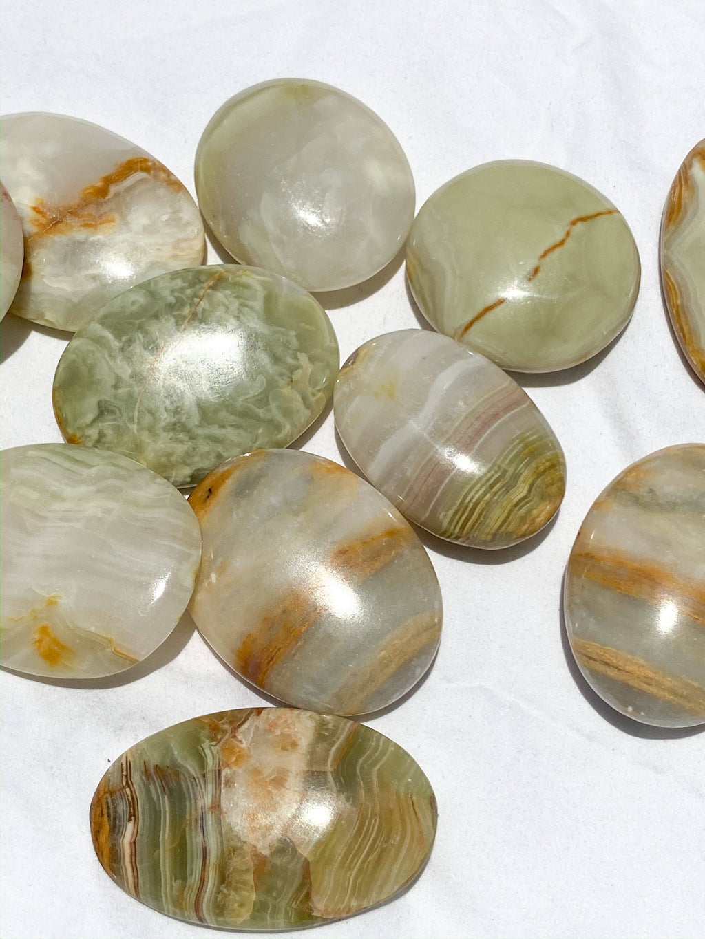 Green Calcite Palm Stone | Medium - Unearthed Crystals
