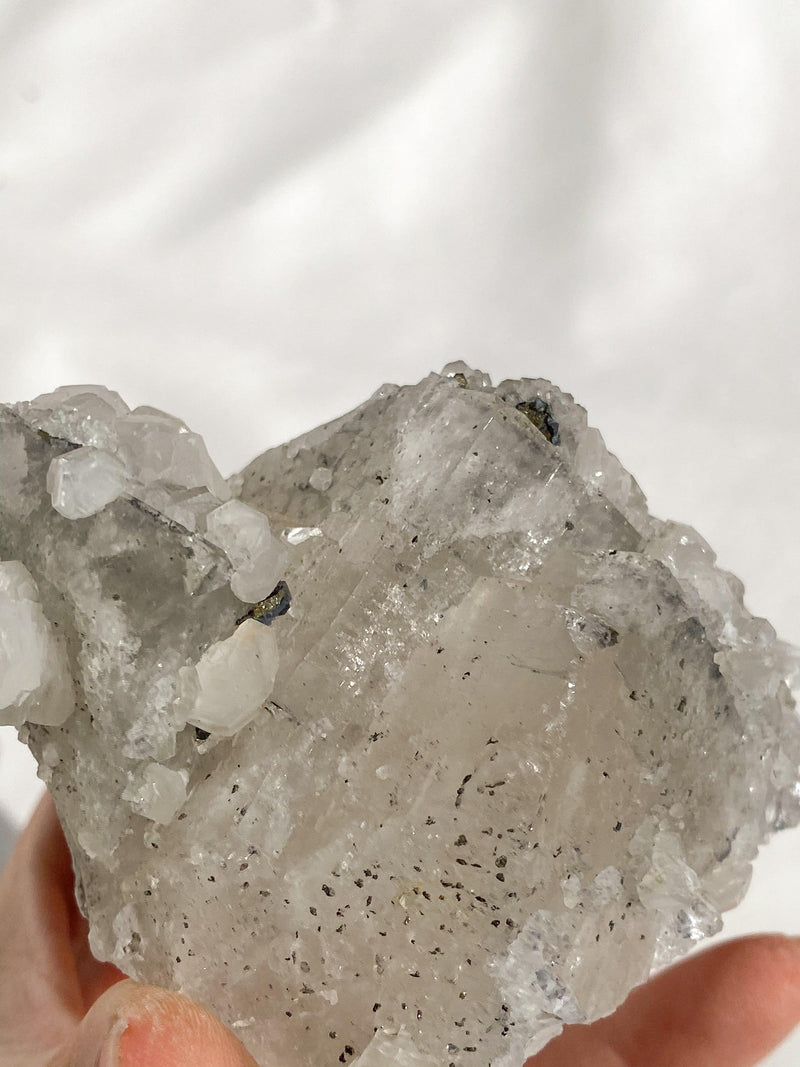 Fluorite with Pyrite + Calcite Specimen - Unearthed Crystals