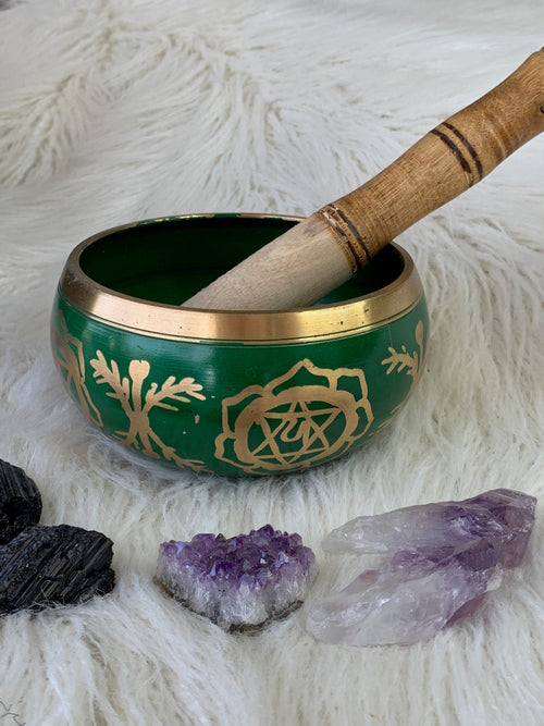 Heart Chakra Brass Singing Bowl - Unearthed Crystals