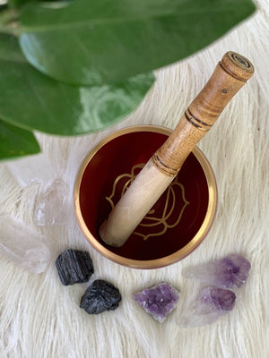 Root Chakra Brass Singing Bowl - Unearthed Crystals