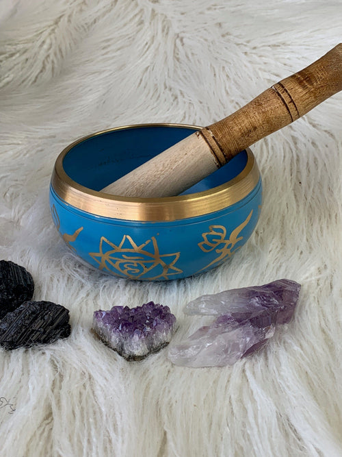 Throat Chakra Brass Singing Bowl - Unearthed Crystals