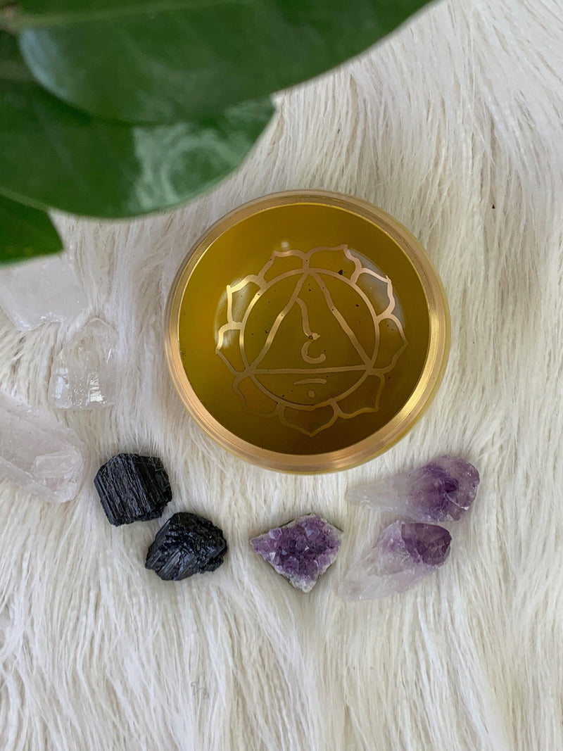 Solar Plexus Chakra Brass Singing Bowl - Unearthed Crystals