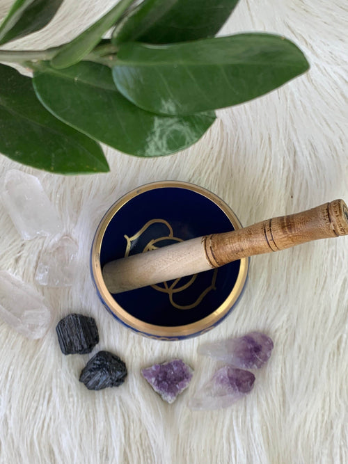 Third Eye Chakra Brass Singing Bowl - Unearthed Crystals