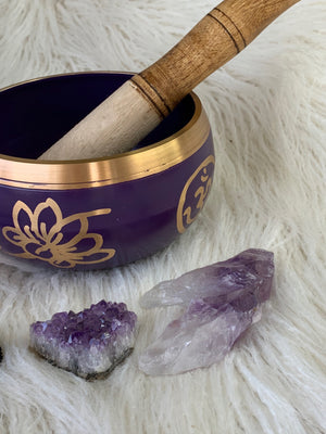 Crown Chakra Brass Singing Bowl - Unearthed Crystals
