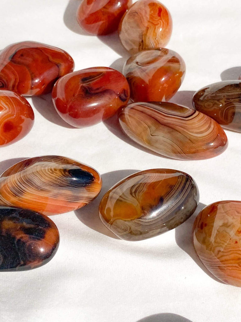 Sardonyx Palm Stone | Extra Small - Unearthed Crystals