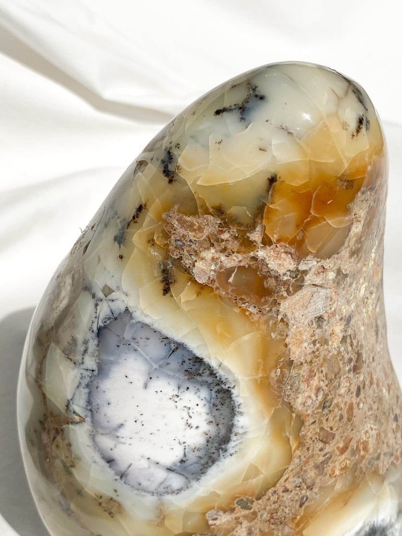 Dendritic Agate Standing Polished Freeform - Unearthed Crystals
