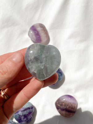 Rainbow Fluorite Heart | Medium - Unearthed Crystals