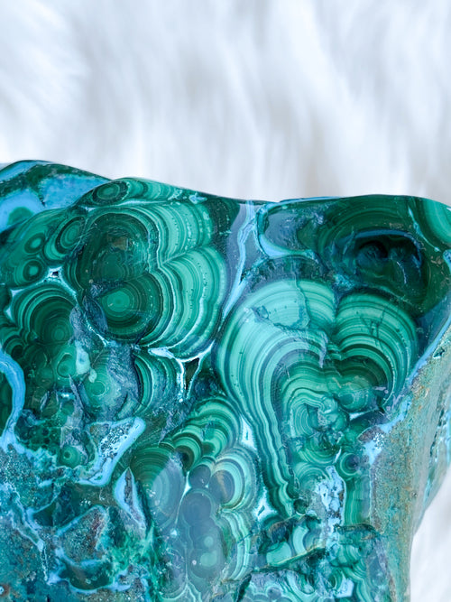 Chrysocolla + Malachite Freeform - Unearthed Crystals