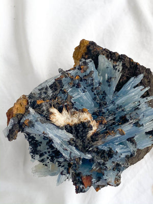 Moroccan Blue Barite Specimen - Unearthed Crystals