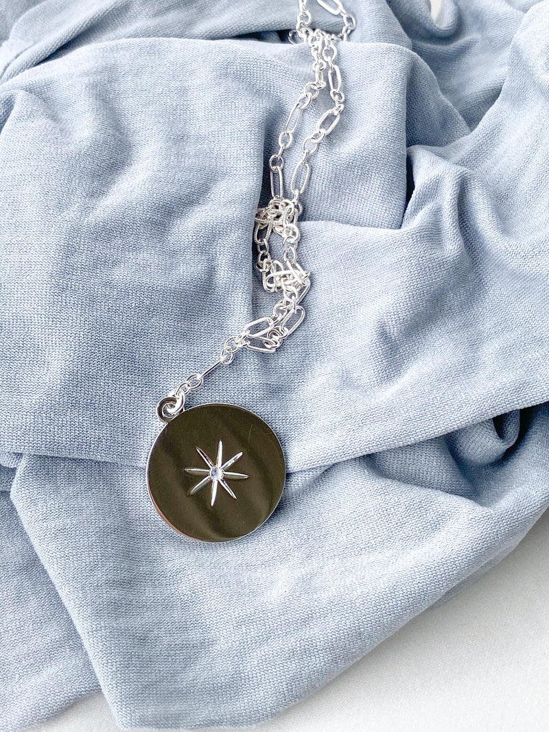 STARBURST Necklace | June | Moonstone - Unearthed Crystals