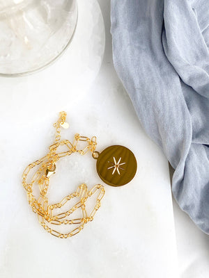 STARBURST Necklace | November | Citrine - Unearthed Crystals