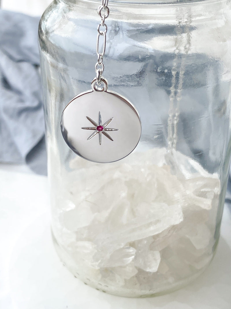 STARBURST Necklace | October | Pink Tourmaline - Unearthed Crystals
