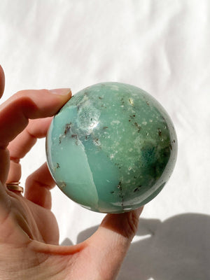 Chrysoprase Sphere - Unearthed Crystals