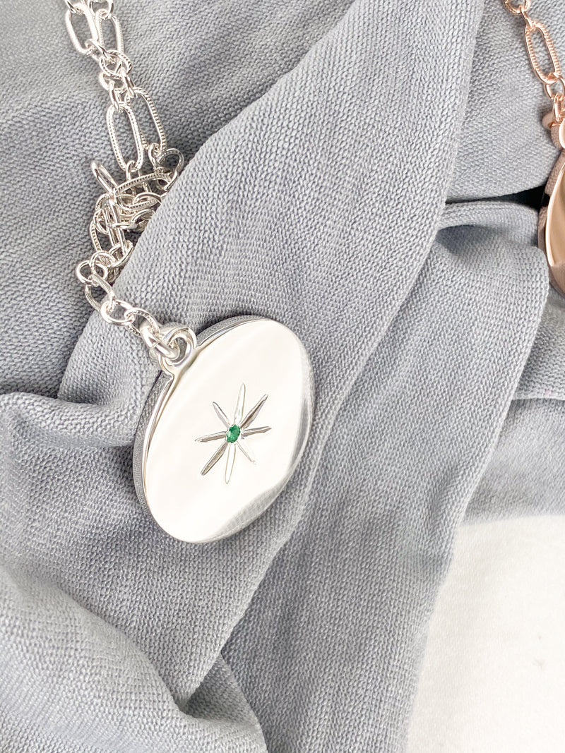 STARBURST Necklace | May | Emerald - Unearthed Crystals