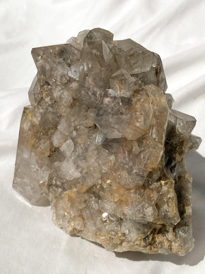 Lodolite Quartz Cluster | Freestanding Double Sided - Unearthed Crystals