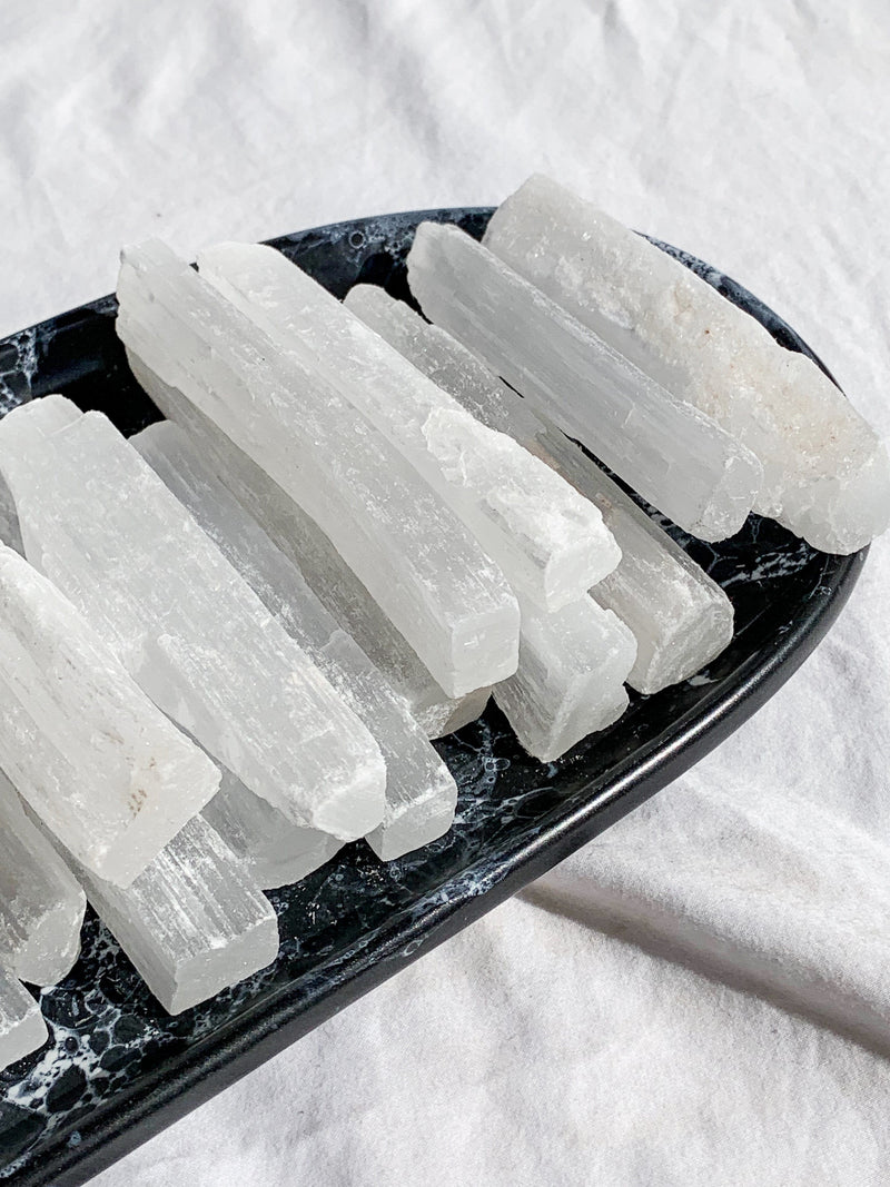 Selenite Rough Rod - Unearthed Crystals