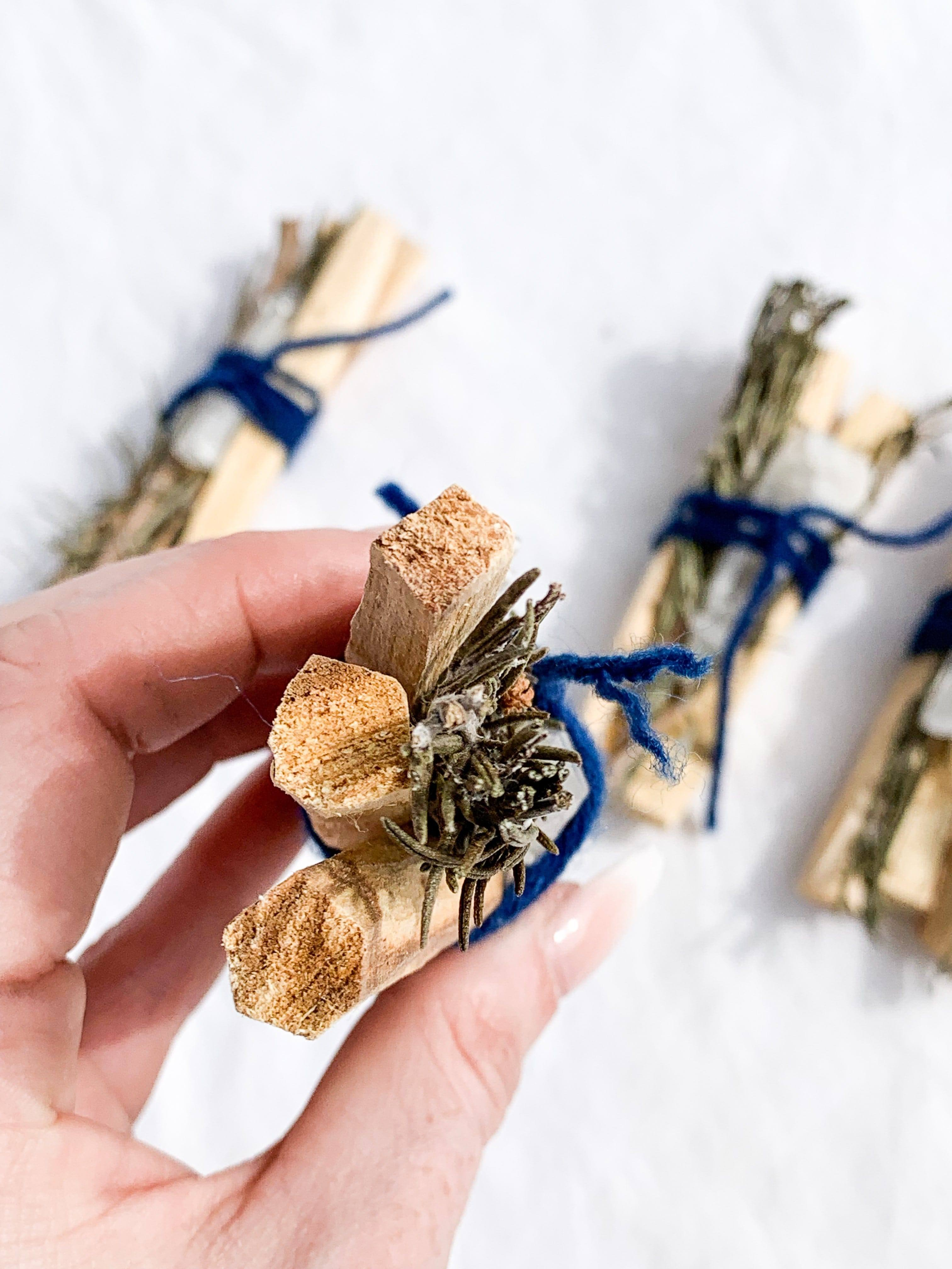 Palo Santo, Rosemary & Quartz Cleansing Bundle - Unearthed Crystals