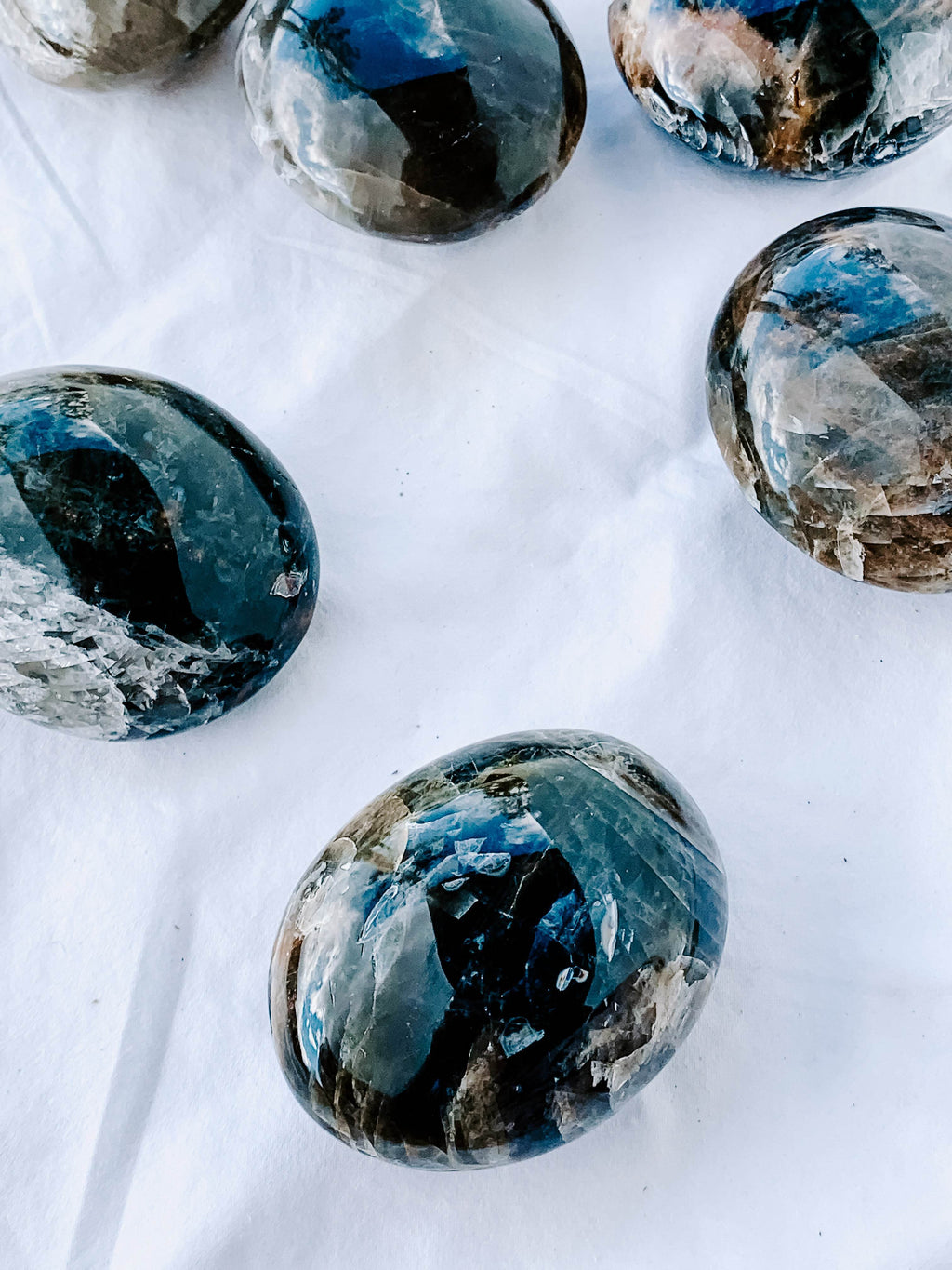 Black Moonstone Palm Stone | Large - Unearthed Crystals
