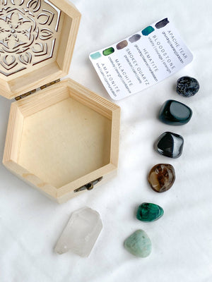 Grounding + Mindfulness Antidote Box © - Unearthed Crystals