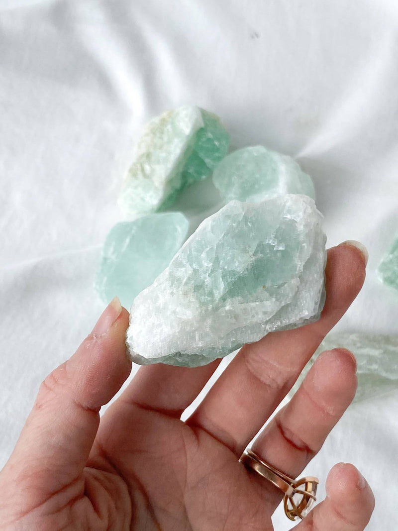 Green Fluorite Rough | Medium - Unearthed Crystals