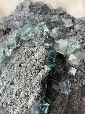 Green Fluorite Cluster - Unearthed Crystals