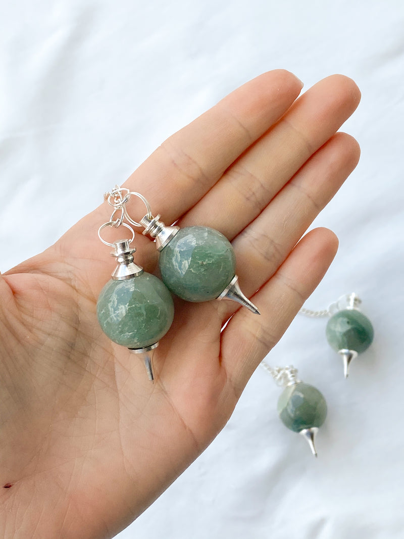 Green Aventurine Ball Pendulum - Unearthed Crystals