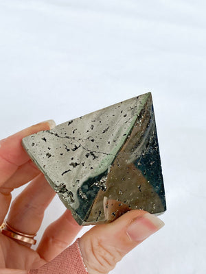 Peruvian Pyrite Pyramid - Unearthed Crystals