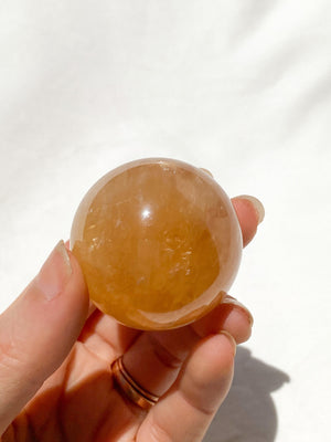 Honey Calcite Sphere - Unearthed Crystals