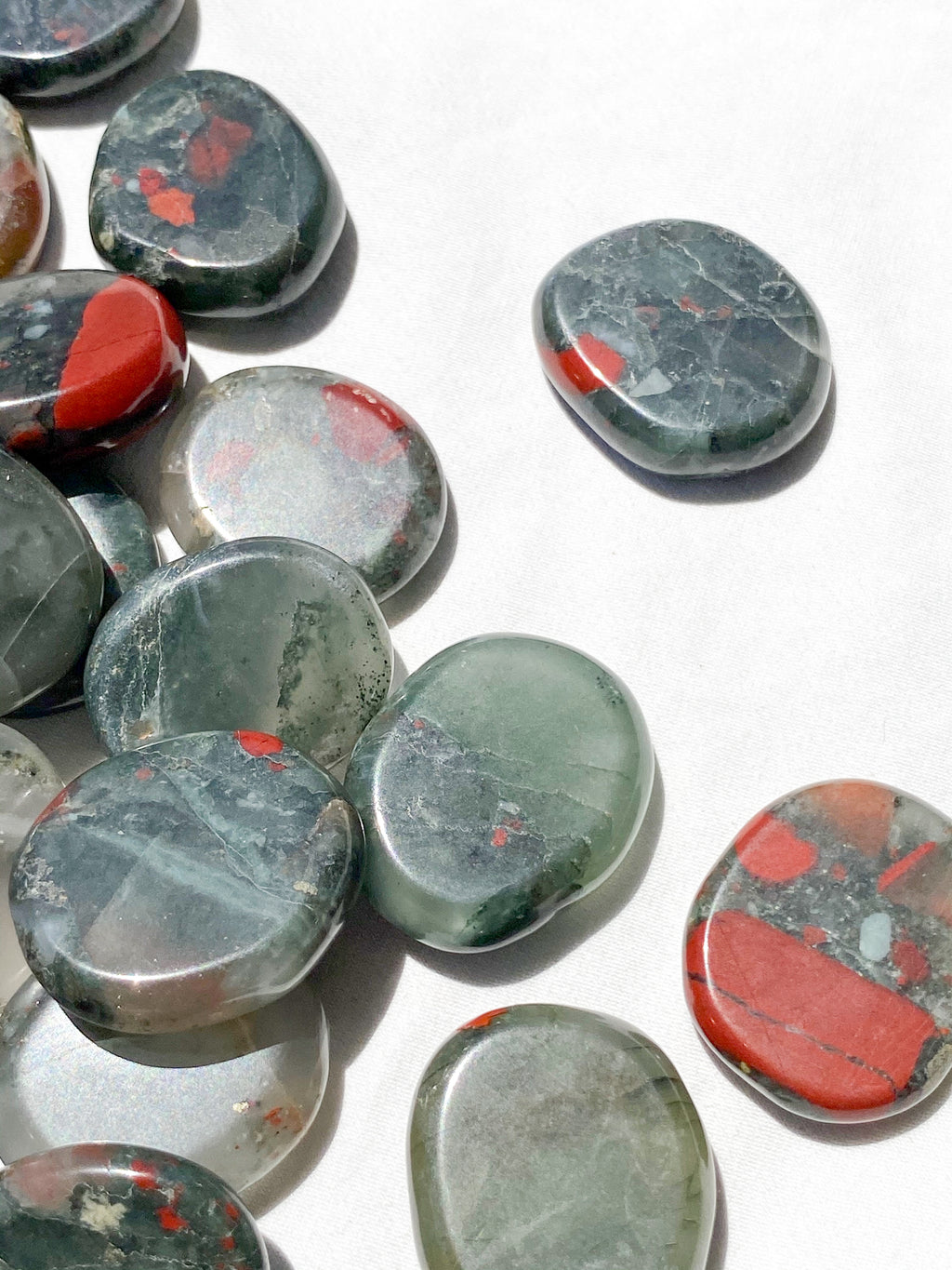 Bloodstone Coin - Unearthed Crystals