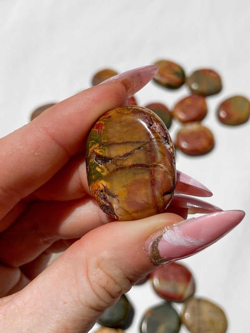 Cherry Creek Jasper Coin - Unearthed Crystals