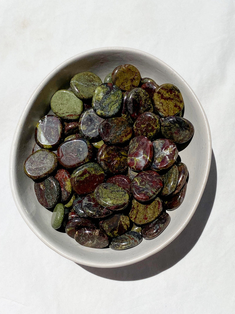 Dragons Blood Jasper Coin - Unearthed Crystals