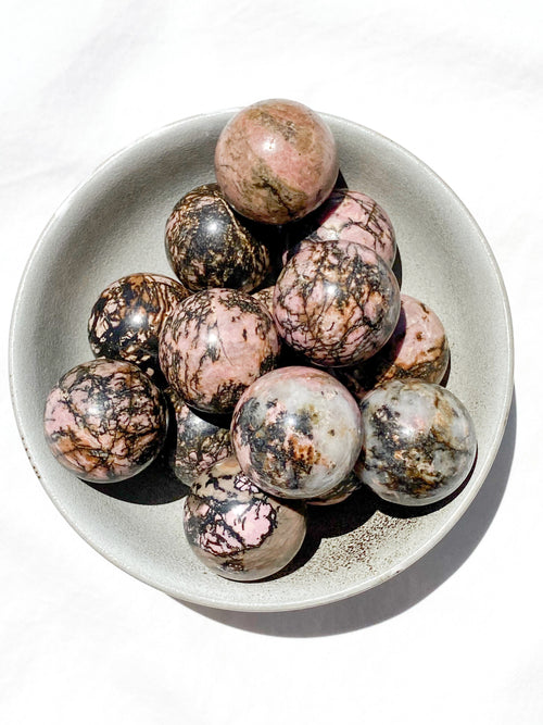 Rhodonite Sphere | Medium - Unearthed Crystals