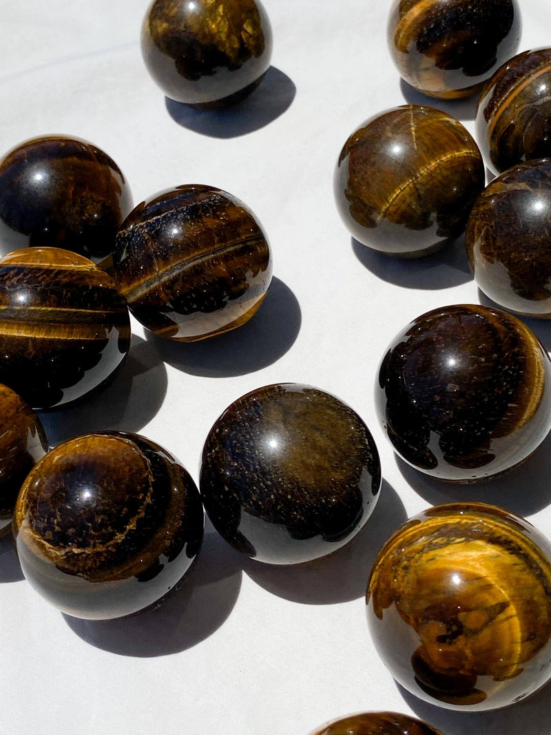 Tigers Eye Sphere | Medium - Unearthed Crystals