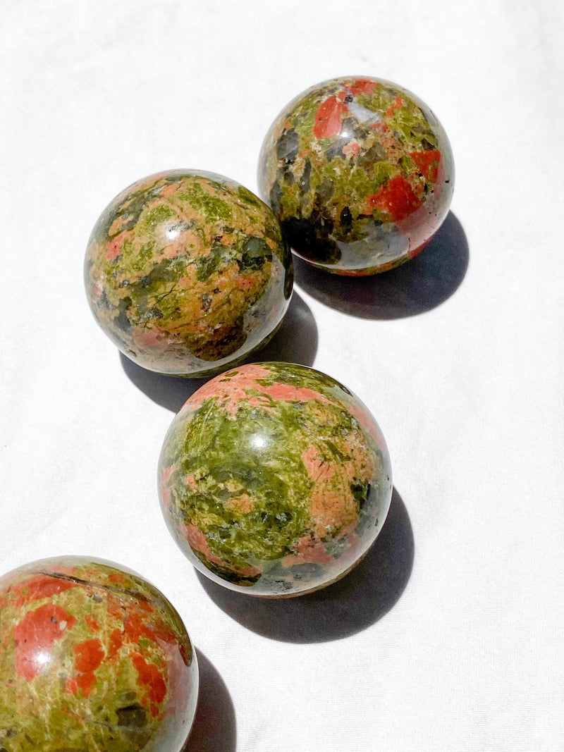Unakite Sphere | Medium - Unearthed Crystals