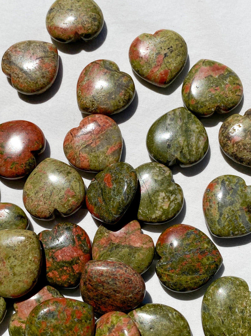 Unakite Heart | Mini - Unearthed Crystals