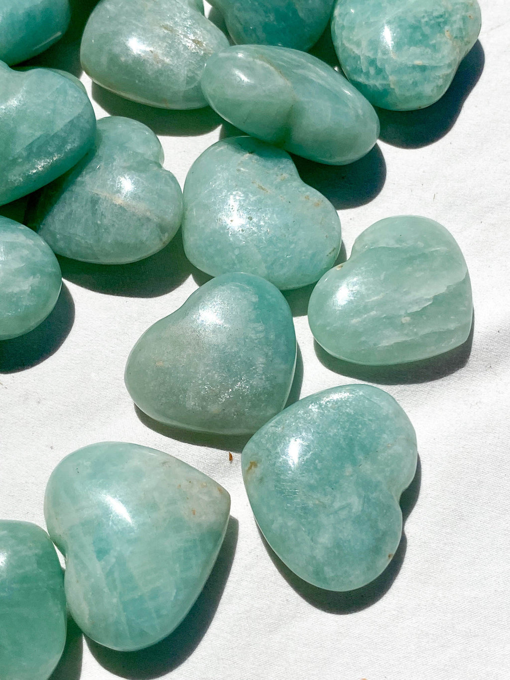 Amazonite Heart - Light | Medium - Unearthed Crystals