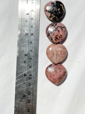 Rhodonite Heart | Small - Unearthed Crystals