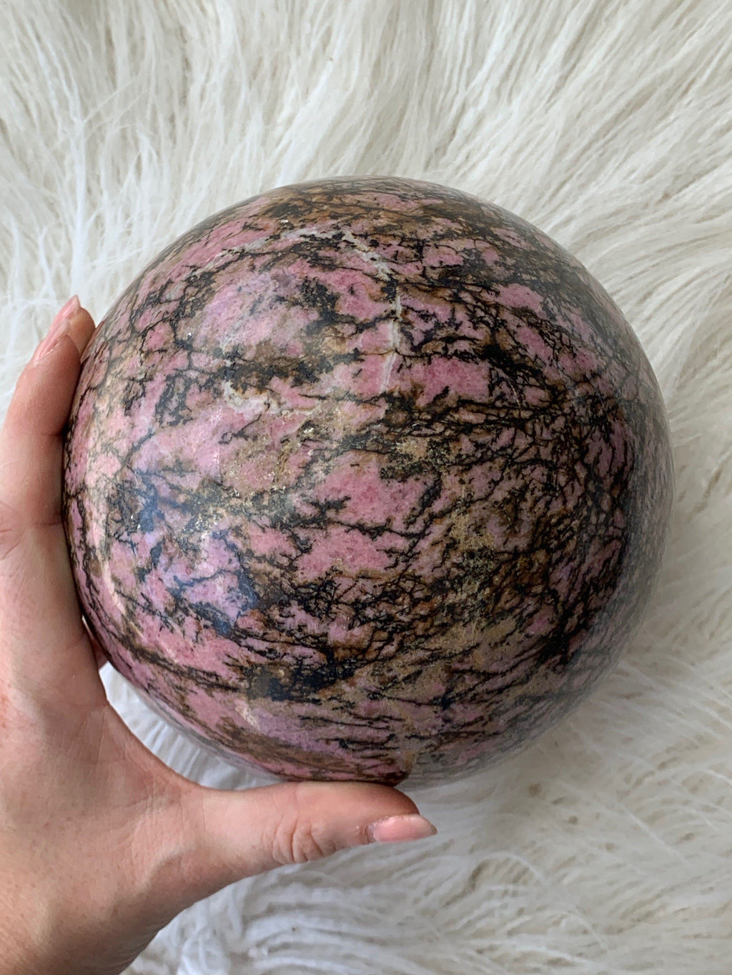 Rhodonite Sphere - Unearthed Crystals