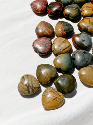 Cherry Creek Jasper Heart | Mini - Unearthed Crystals