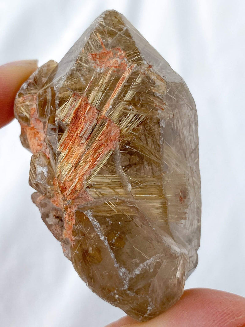 Naturally Double Terminated Golden Rutile | Collector Specimen - Unearthed Crystals