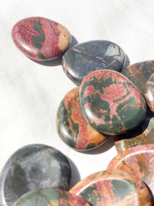 Cherry Creek Jasper Worry Stone | Large - Unearthed Crystals