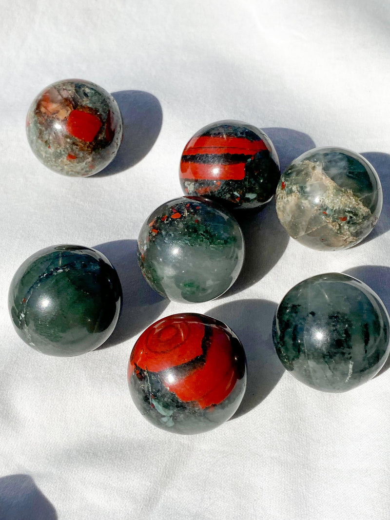 Bloodstone Sphere | Small - Unearthed Crystals