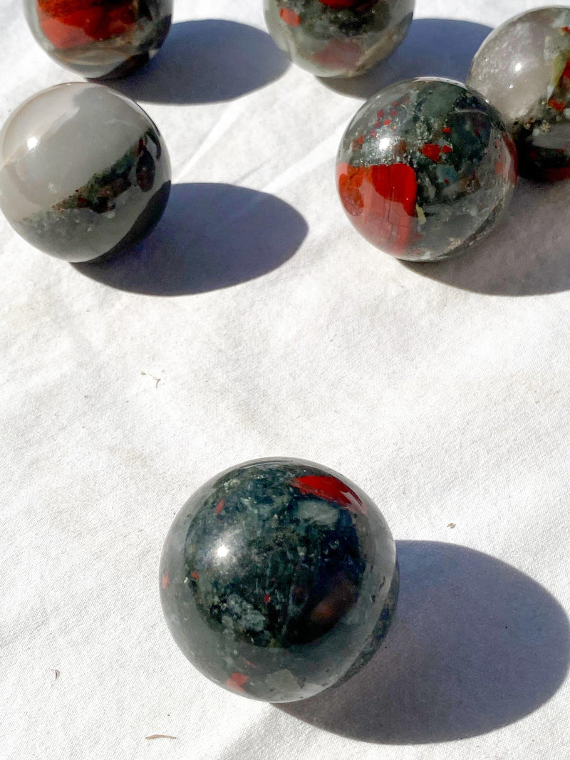 Bloodstone Sphere | Medium - Unearthed Crystals