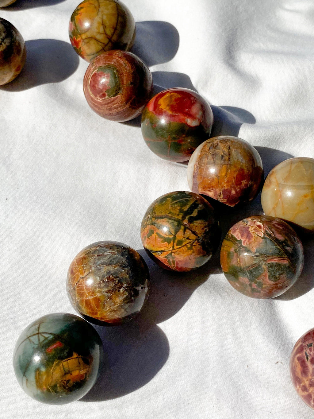 Cherry Creek Jasper Sphere | Small - Unearthed Crystals