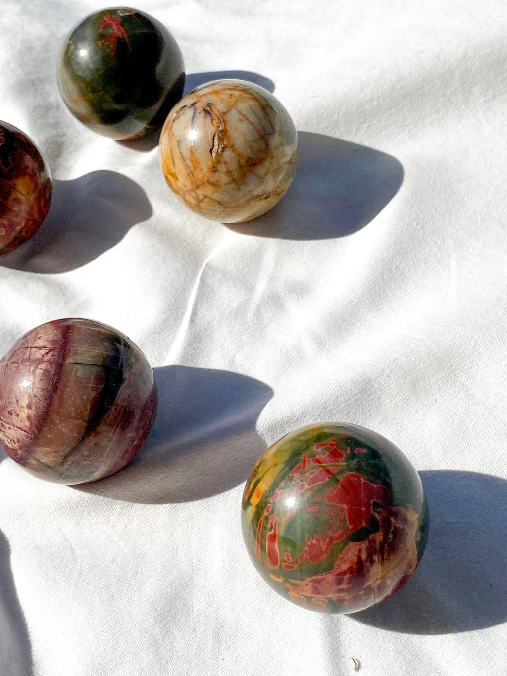 Cherry Creek Jasper Sphere | Medium - Unearthed Crystals