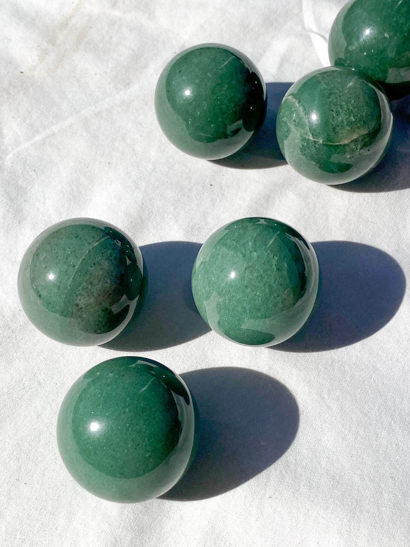 Green Aventurine Sphere | Medium - Unearthed Crystals