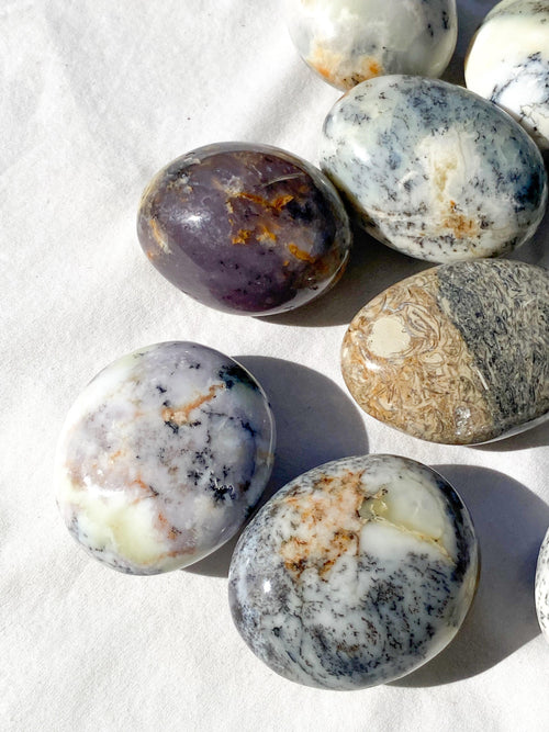 Dendritic Opal Palm Stone | Large - Unearthed Crystals